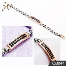 2015 fashion high quality O shape chain bracelet stainless steel