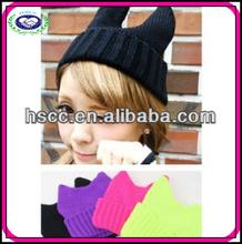 Fashion Ear Cat Women's Winter Knitted Hats Wholesale