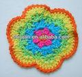 Handmade crochet headbands e flores de crochê