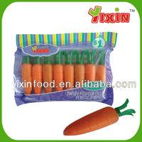 8.5g carrot shaped fruit powder flavors