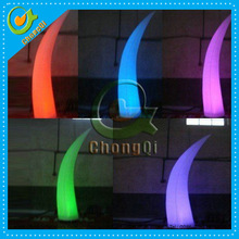 Party decoration inflatable lighting cone with led light