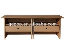 Eco-friendly A-PD156-7 corrugated cardboard furniture cupboard portable file storage cabinet desk
