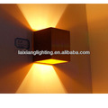 2013 2x1W Up and Down Wall Light indoor Lighting Cube LED Wall Light