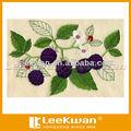 Patrón de flores bordado Applique