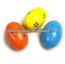 Huevos decorativos de madera, huevos de madera agitador