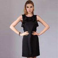 YIGELILA 2015 Women Fashion Formal Black Sexy Back Prom Dress 6276