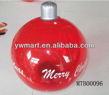 Inflatable promotional led red logo printed beach ball