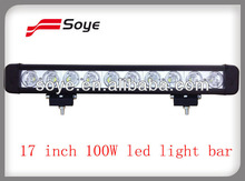 17 inch 100W motorcycle led light bar offroad cree led bar light 4WD accessories