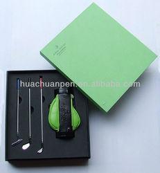 elegant golf gift pen with holder