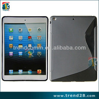for ipad 5 s shape matte tpu+pc case with the rough sides