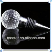 Golf Crystal Ball Wine Bottle Stopper For Wedding Decoration & Gifts