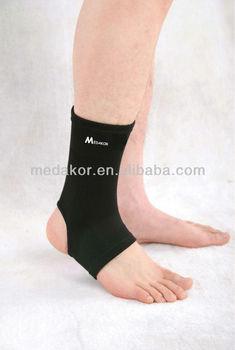 black elastic ankle support