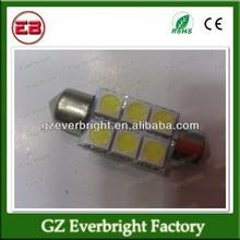 Auto led light 31mm / 36mm / 39mm / 41mm 5050 6 LED 6 smd Festoon Dome LED Light Bulbs