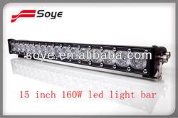 15'' 160W Cree single led light bar super beam car spot light 12 volt led lights motorcycles
