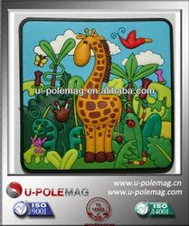 Promotional Soft PVC 3D rubber fridge magnet