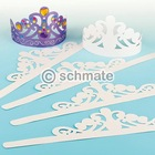 Tiara to decorate paper card