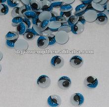 Blue eyelashes moving eyes for toy