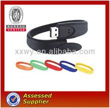 customized silicone wristband usb memory