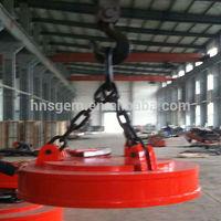 Steel Scraps Circular Magnetic Lift