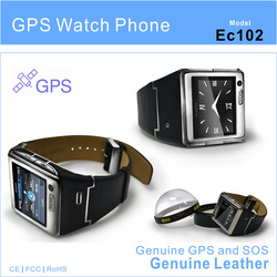 GPS watch mobile phone EC102 with bluetooth and camera