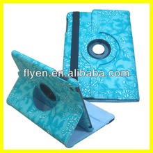Manufacturer Wholesale Stand Magnetic Rotating 360 Rotating Case for iPad mini Leather Smart Cover 2013 Hot Selling
