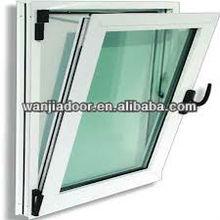 Wanjia factory pvc plastic green tinted glass window design