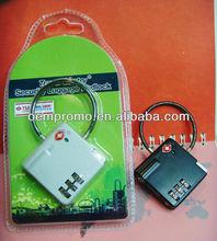3 Dial wholesale travel Zinc alloy TSA luggage lock