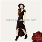 Women Long Summer Black Cotton Dress