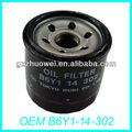 Smart mazda323/323s/626/2/mx-5 miata/mx-3 del filtro de aceite b6y1-14-302 oem