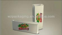 Personalizado fast embalagens de papel para alimentos de cachorro-quente com logotipo e impressão