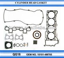 auto parts gasket kit for NISSAN SUNNY QG18 OEM NO. 10101-4M785