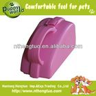 fashion pink portable pet food feeder,pet bowls & feeders