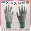 seeway de sécurité de travail palm pu gants en nylon enduit