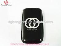 luxury black PU surface beatiful camera zipper locked bag OEM eva camera case