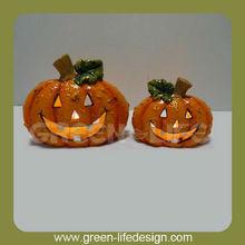 Artificial halloween pumpkin