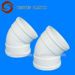 Plastic 45 Degree PVC Elbow pipe fitting