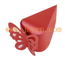 paper wedding candy boxes with butterfly shaped cutouts