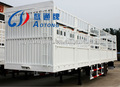 Chine bétail et de la volaille de transport jeu semi - remorque / camion remorque à vendre