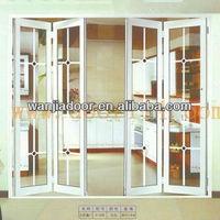 foshan wanjia factory pvc plastic bifold door