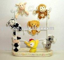 mini Plush animals,Magnet in each foot -08201