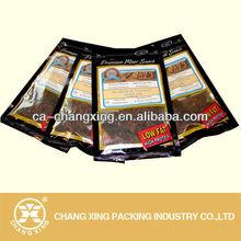 Plastic ziplock Buffalo bag(fresh storage for beef jerky packing)