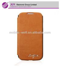S4 i9500 BROWN-Tridea Italian PU Card pocket Flip Case&Cover for SAMSUNG Galaxy S4 i9500