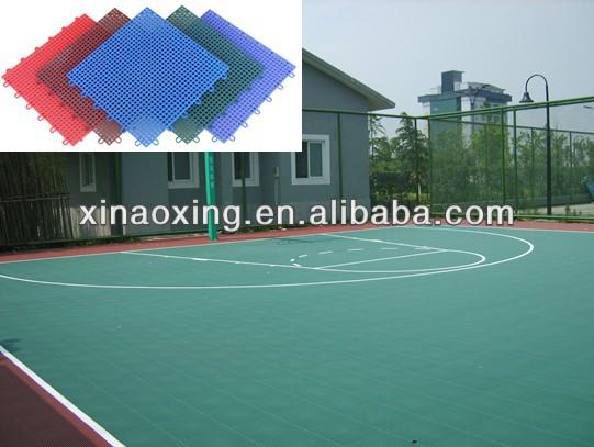 SUGE Outdoor Interlocking Basketball Court Flooring Tile, PP Interlocking basketball flooring