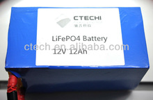LiFePO4 12V 12Ah rechargeable battery FOR energy storage