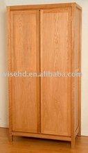 (W-CB-401) two-door oak bedroom wall wardrobe design