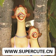 Plastic shrilling lady shaped toy