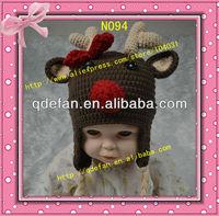 2015 new hand made crochet custom baby child to adult animal reindeer christmas hats