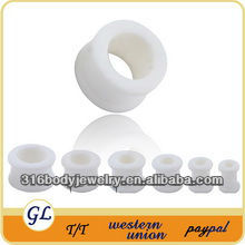 TP03029 flexible ear tunnel body jewelry silicone rubber