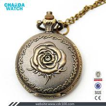 Antique romantic Rose bronze pocket faces watches
