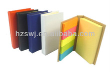 Hard kraft cover pocketbook with colorful paper-tape made in China